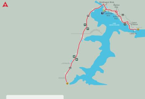 IM 70.3 Coeur d'Alene bike course